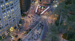 New York City Madison Square Traffic Timelapse 4 Stock Footage