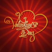 Glamorous gold - valentines day Stock Illustration