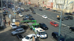 Car Wrecker, Moscow, Sadovaya street, Stock Footage