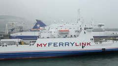 My ferry link cross channel ferry at dover, england Stock Footage