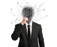 Confused businessman Stock Illustration