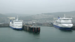 My ferry link and dfds seaways cross channel ferry at dover, england Stock Footage