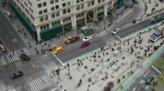 4K New York City Madison Square Traffic Miniature Effect Timelapse 1 Stock Footage