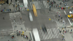 New York City Madison Square Traffic Timelapse 3 Stock Footage
