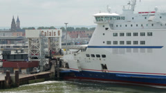 My ferry link cross channel ferry at calais, france Stock Footage