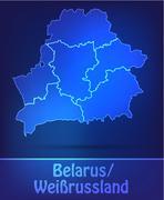 map of belarus - stock illustration