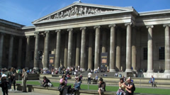 The British Museum, London UK Stock Footage