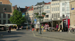 Grote markt, market square, mechelen, belgium Stock Footage