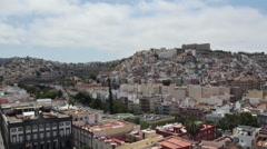 Motion view Las Palmas panorama Stock Footage