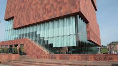 museum ann de stroom, antwerp, belgium - stock footage