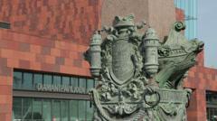 Museum ann de stroom and diamond pavilion, antwerp, belgium Stock Footage