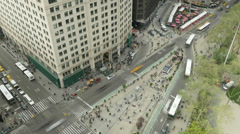 4K New York City Madison Square Traffic Timelapse 2 Stock Footage