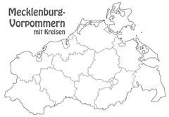Stock Illustration of map of mecklenburg-western pomerania