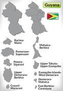 Map of guyana Stock Illustration