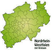 Stock Illustration of map of north rhine-westphalia