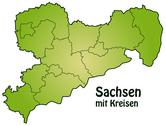 Map of saxony Stock Illustration
