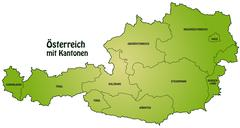 map of austria - stock illustration