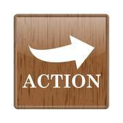 action icon - stock illustration