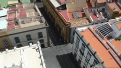 Sightseeing and roofs in Las Palmas Stock Footage