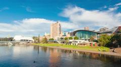 4k hyperlapse video Adelaide city, Australia Arkistovideo