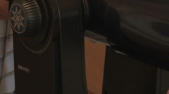 The lens of the telescope takes place in the search star Stock Footage