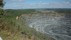 Quarry for mining of ore, minerals. - stock footage