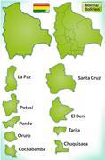 Map of bolivia Stock Illustration