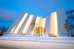 Tromso Arctic Cathedral Stock Photos