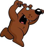 Stock Illustration of cartoon bear attacking
