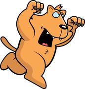 Cartoon cat attacking Stock Illustration