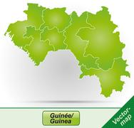 map of guinea - stock illustration