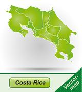 Map of costa-rica Stock Illustration
