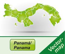 Stock Illustration of map of panama