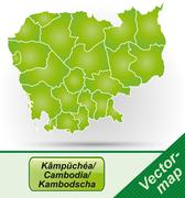 Stock Illustration of map of cambodia