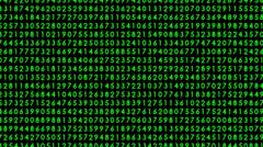 Matrix with moving decimal code numbers (zoom in-zoom out) 36 Stock Footage