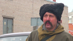 Cossack cap Stock Footage