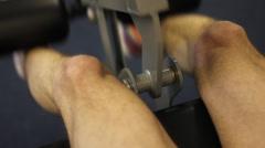 Men's leg extensions Stock Footage