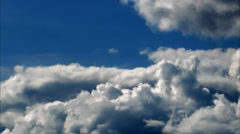 White Cumulus Clouds Blue Sky Time Lapse - 29,97FPS NTSC Stock Footage