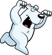 Stock Illustration of cartoon polar bear attacking