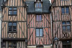 half-timbered house in tours, loire valley, france - stock photo