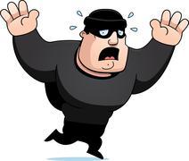 Cartoon burglar panic Piirros