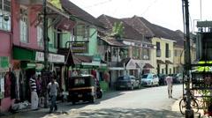 India Kerala Kochi Cochin City 019 downtown street scene - stock footage