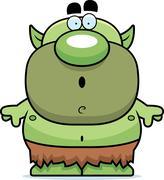 Cartoon surprised goblin Stock Illustration