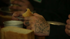 Stock Video Footage of Tattoos on his arms convict