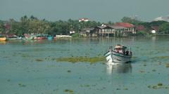 India Kerala Kochi Cochin City 004 boating in the backwaters - stock footage