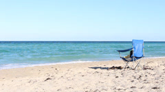 Chair on the Beach Stock Footage