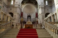 interior of the basilica of saint-martin, tours, france - stock photo