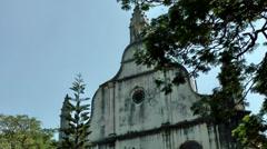 India Kerala Kochi Cochin City 009 St. Francis Church, in Fort Kochi - stock footage