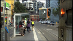 Tramway Station on Melbourne CBD Stock Footage