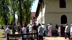India Kerala Kochi Cochin City 020 tourists at the entrance of Dutch Palace - stock footage